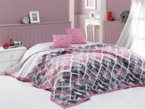 Prehoz na postel Riviera ruzovy BedTex