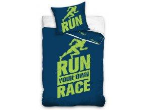 Perkalove povleceni RUN Race Modre