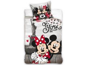 Bavlněné povlečení Minnie a Mickey v New Yorku