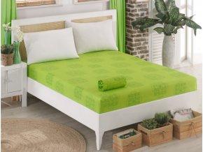 Bavlnene prosteradlo Sedef Zelene 90x200