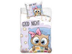 Detske povleceni Sova Dobrou Noc