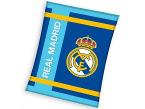 Fotbalova deka Real Madrid Blue Stripes