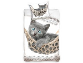 Bavlnene povleceni Sede kotatko cat182001