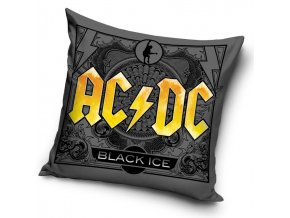 Povlak na polstarek 45x45 AC/DC Black Ice