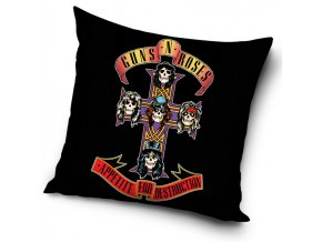 Povlak na polstarek 45x45 Guns and Roses Appetite for Destruction