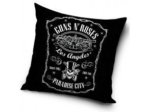Povlak na polstarek 45x45 Guns and Roses Paradise City