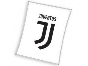 Fotbalova deka Juventus White 110x140