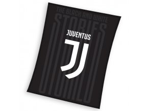 Fotbalova deka Juventus Black 150x200
