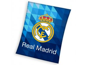 Fotbalova deka Real Madrid Blue Crystal 150x200