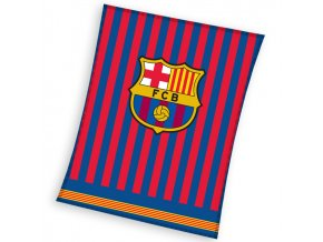 Fotbalova deka FC Barcelona Clean 150x200 cm