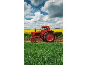 Frote rucnicek 30x50 Cerveny Traktor