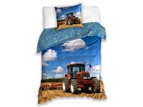 Detske povleceni Traktor na poli 140x200 + 70x90 cm