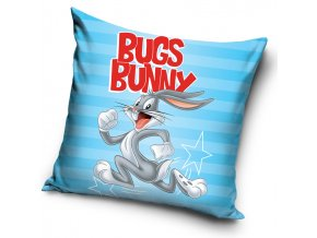 Detsky polstarek Králík Bugs Bunny Modry 40x40 cm
