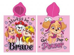Detske ponco Tlapkova Patrola Girl Pup Power