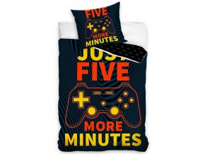 Bavlnene povleceni Gamer Jeste pet minut