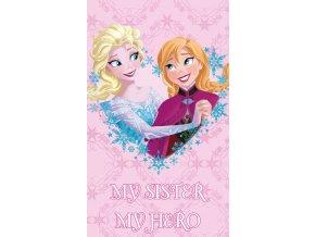 Detsky rucnicek Ledove Kralovstvi Sisters Forever 30x50 Frozen 133