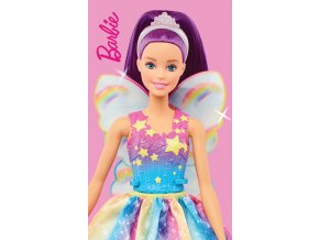 Detsky rucnicek Barbie Duhova Vila 30x50 BARB213001