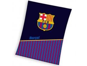Fotbalova deka FC Barcelona Half of Stripes 150x200
