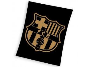 Fotbalova deka FC Barcelona Gradient Black 130x160