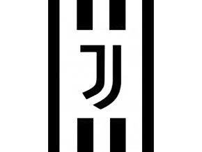 Fotbalova deka Juventus FC Black and White 150x200