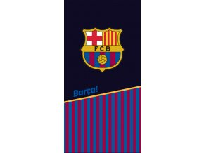 Fotbalova osuska FC Barcelona black half and stripes