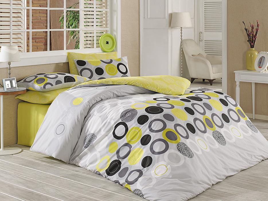 TipTrade s.r.o. Bavlněné povlečení Beneton Yellow Velikost: 220x200 + 2x 70x90 cm