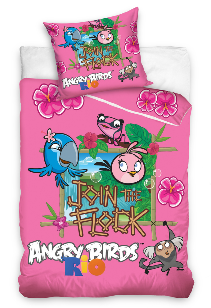 Carbotex Dětské povlečení Angry Birds Stella