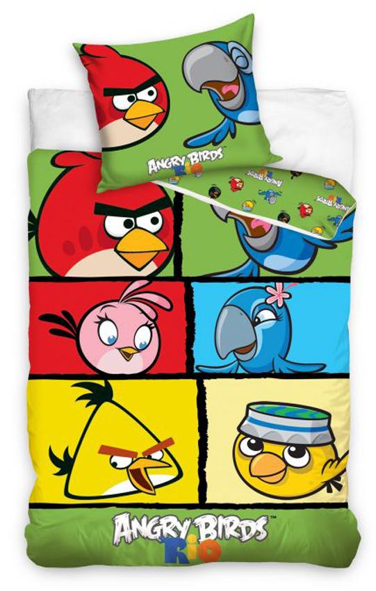 Carbotex Dětské povlečení Angry Birds Check