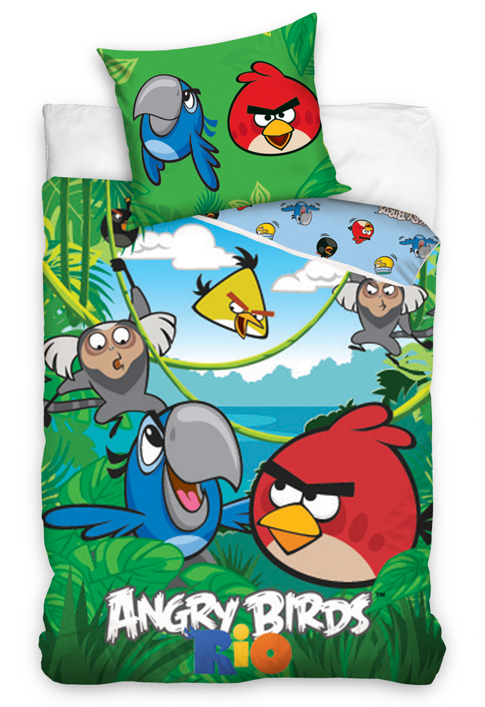 Carbotex Dětské povlečení Angry Birds Jungle