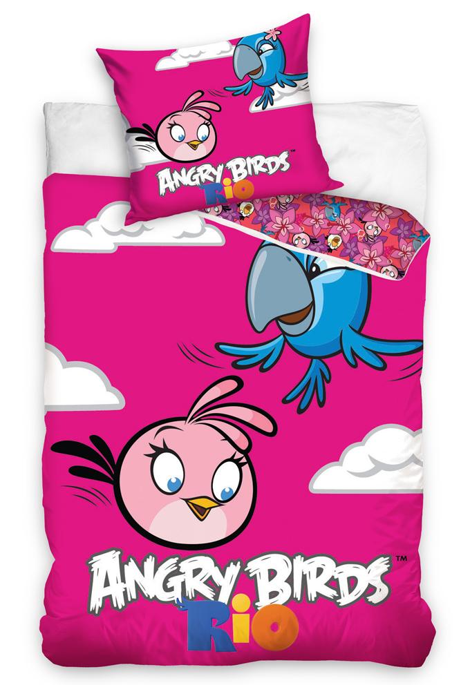 Carbotex Dětské povlečení Angry Pink Bird