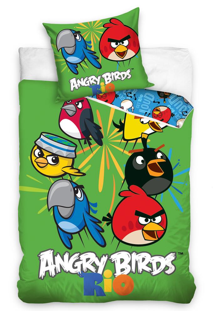 Carbotex Dětské povlečení Angry Birds Mix