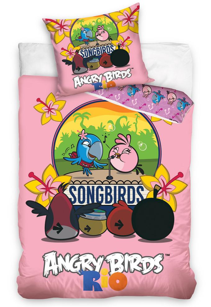 Carbotex Dětské povlečení Angry Birds Karaoke