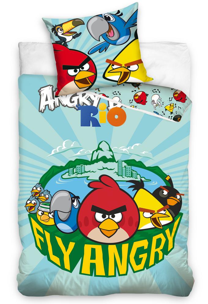 Carbotex Dětské povlečení Angry Birds Fly