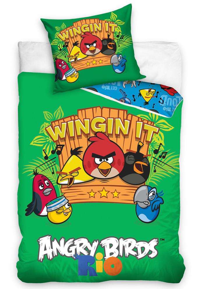 Carbotex Dětské povlečení Angry Birds Music