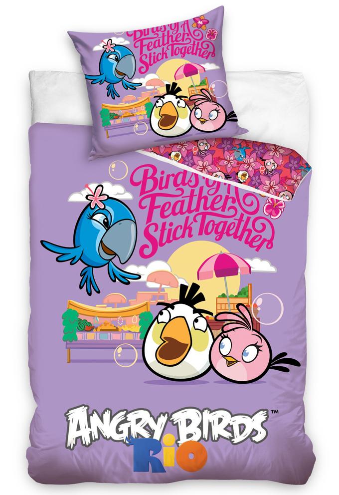 Carbotex Dětské povlečení Angry Birds Friends