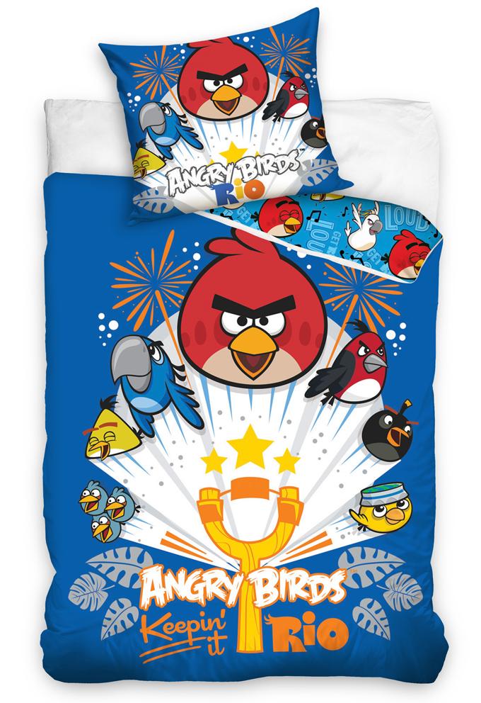 Carbotex Dětské povlečení Angry Birds Prak