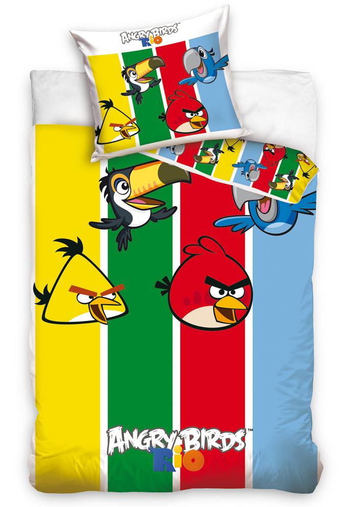 Carbotex Dětské povlečení Angry Birds Stripes
