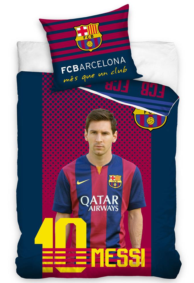 Carbotex Fotbalové povlečení FC Barcelona Messi Velikost: 160x200 + 70x80 cm