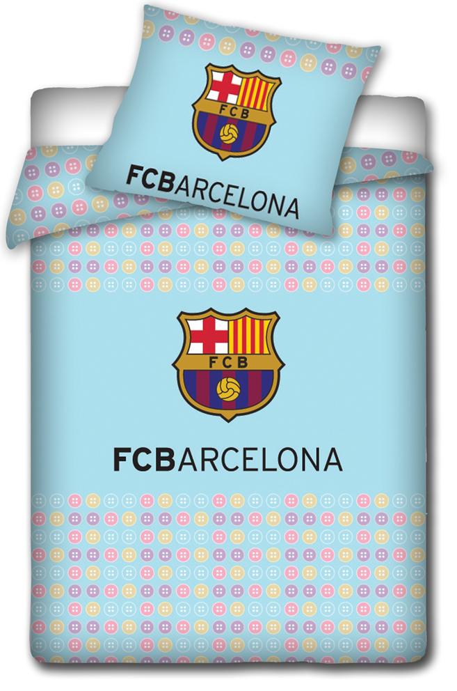 Carbotex Povlečení do postýlky FC Barcelona - Knoflíky