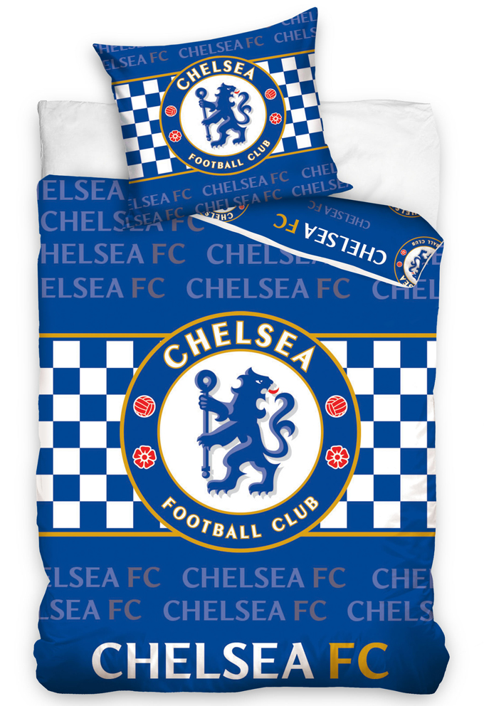 Carbotex Fotbalové povlečení Chelsea FC Šachovnice