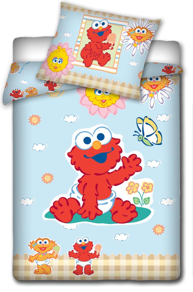 Carbotex Povlečení do postýlky Sesame Street - Elmo