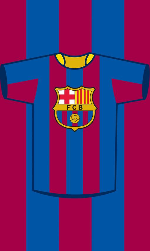 Carbotex Ručník FC Barcelona Dres - 30x50 cm