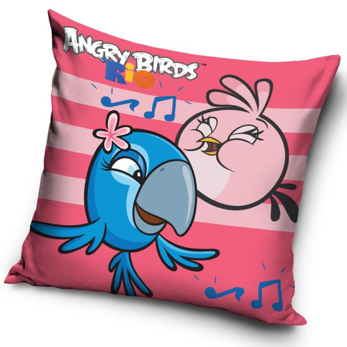 Carbotex Povlak na polštářek Angry Birds Rose Stripes