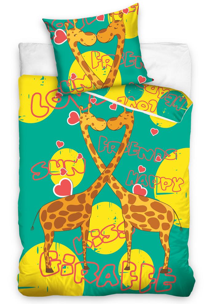 TipTrade s.r.o. Dětské povlečení Žirafy - Zelené