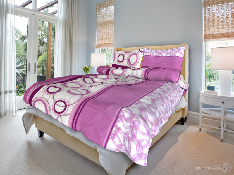 TipTrade s.r.o. Bavlněné povlečení Marta - Růžové Velikost: 140x200 + 70x90 cm