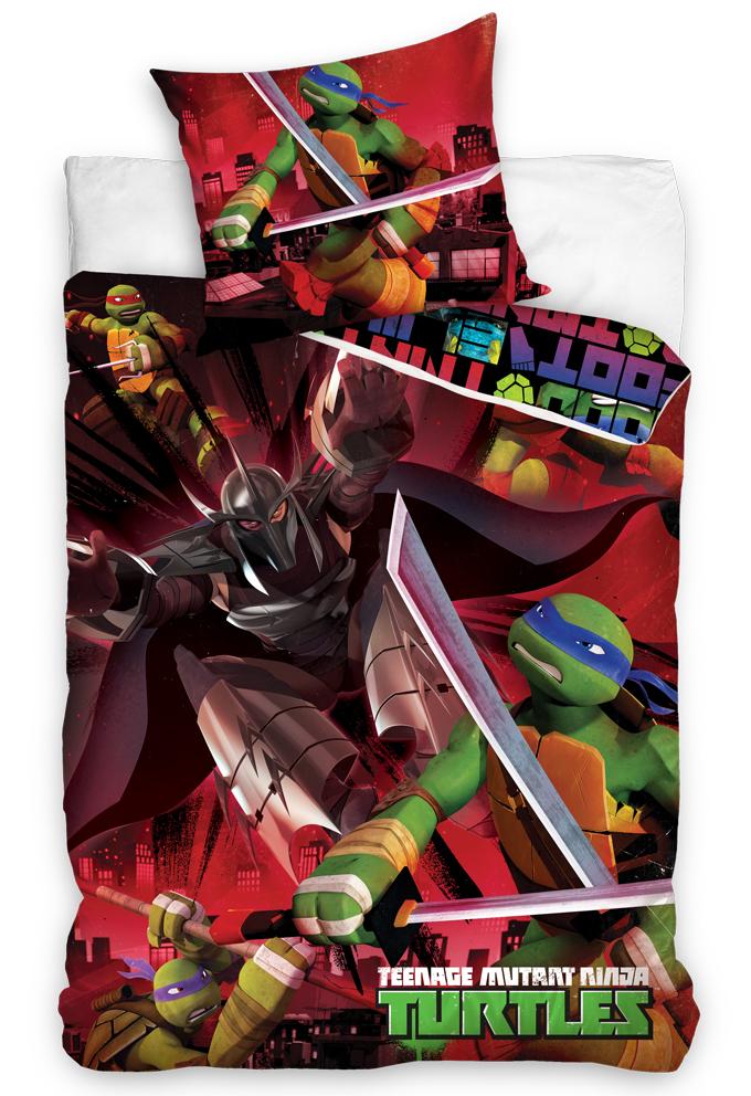 Carbotex Dětské povlečení Želvy Ninja a Trhač
