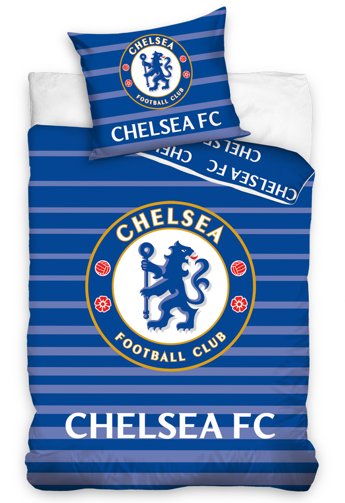 Carbotex Fotbalové povlečení Chelsea FC Stripes