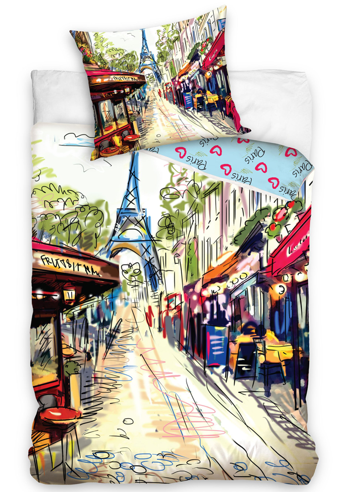Carbotex Povlečení Paříž - Paris Café Rue