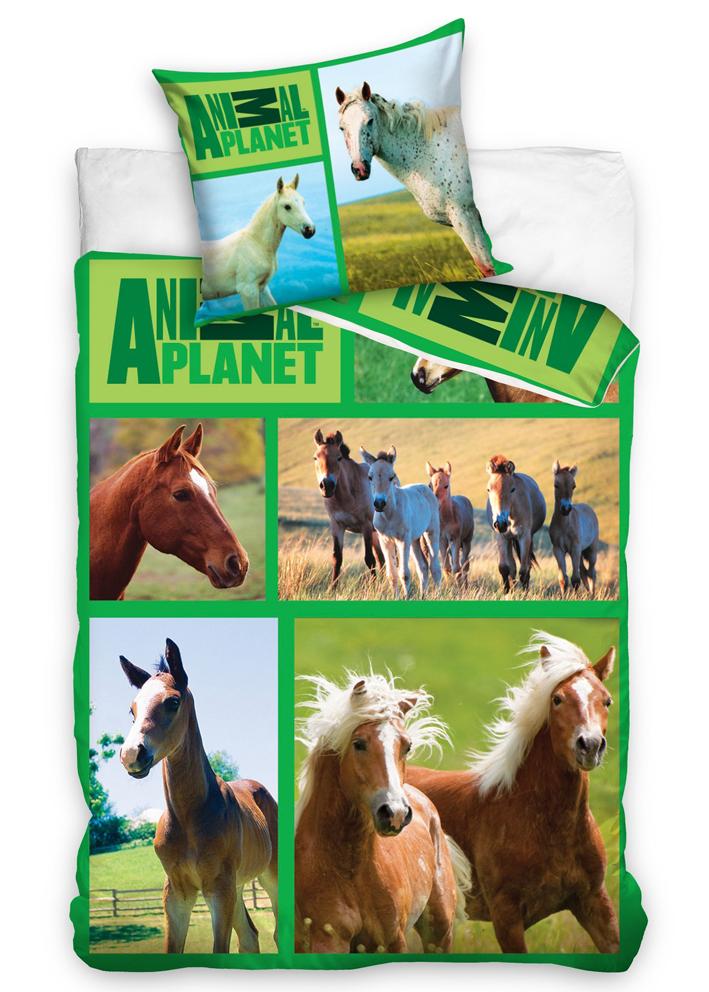 Carbotex Bavlněné povlečení Animal Planet - Koně na louce