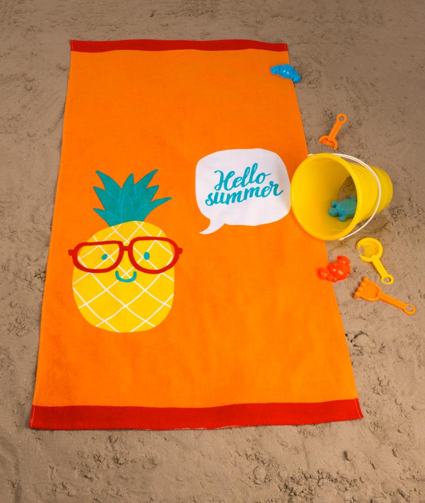 Dětská plážová osuška Ananas Oranžová